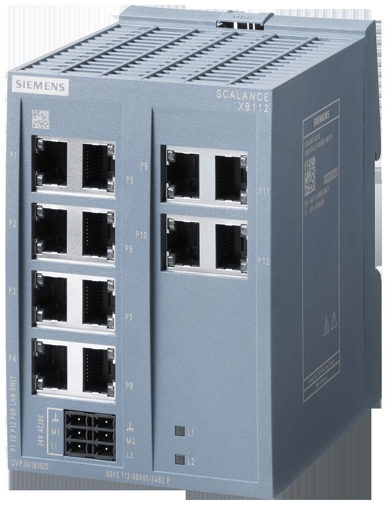 Siemens 6GK51120BA002AB2 SIMATIC Industrial Ethernet Switch
