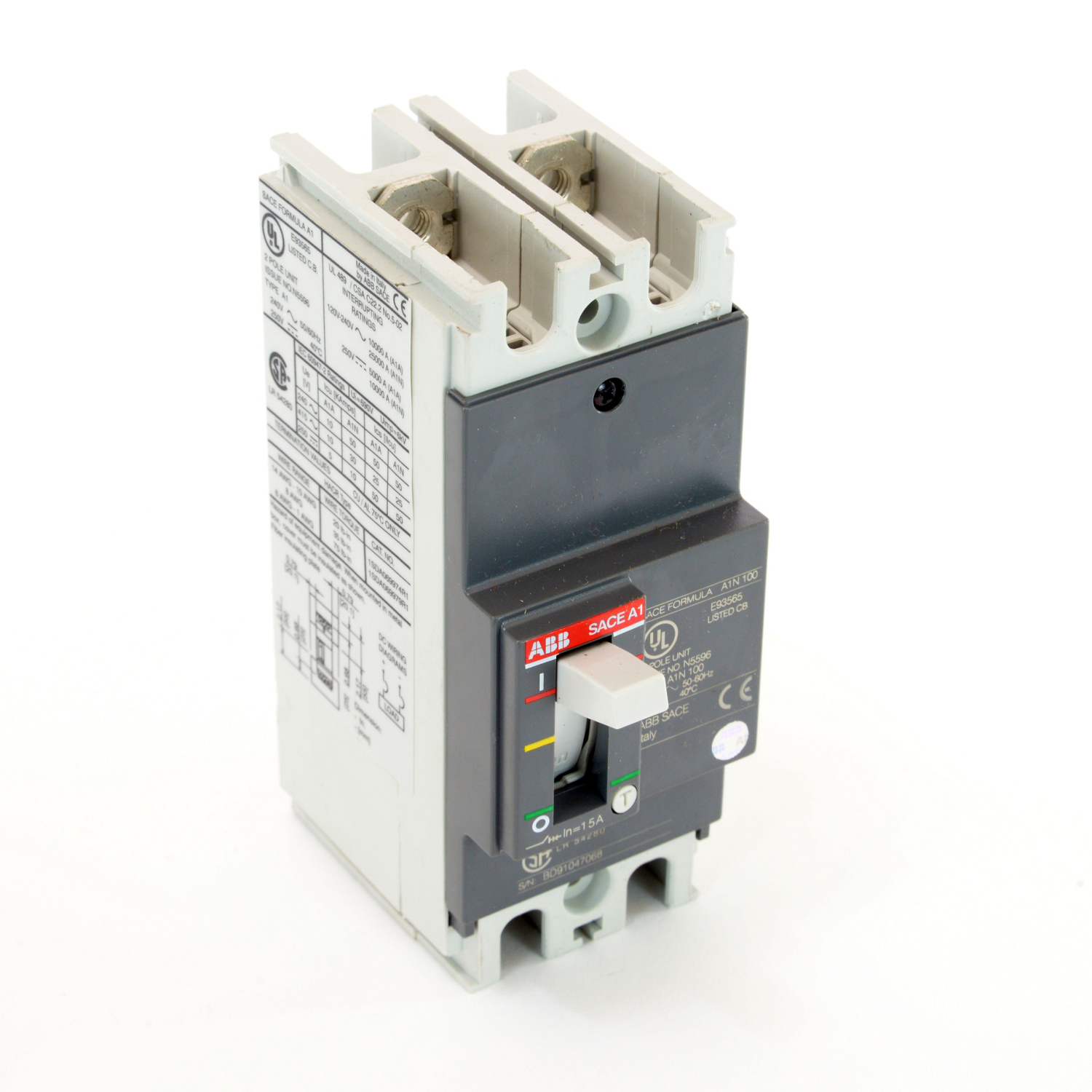 ABB A1N015TW-2 Molded Case Circuit Breakrs