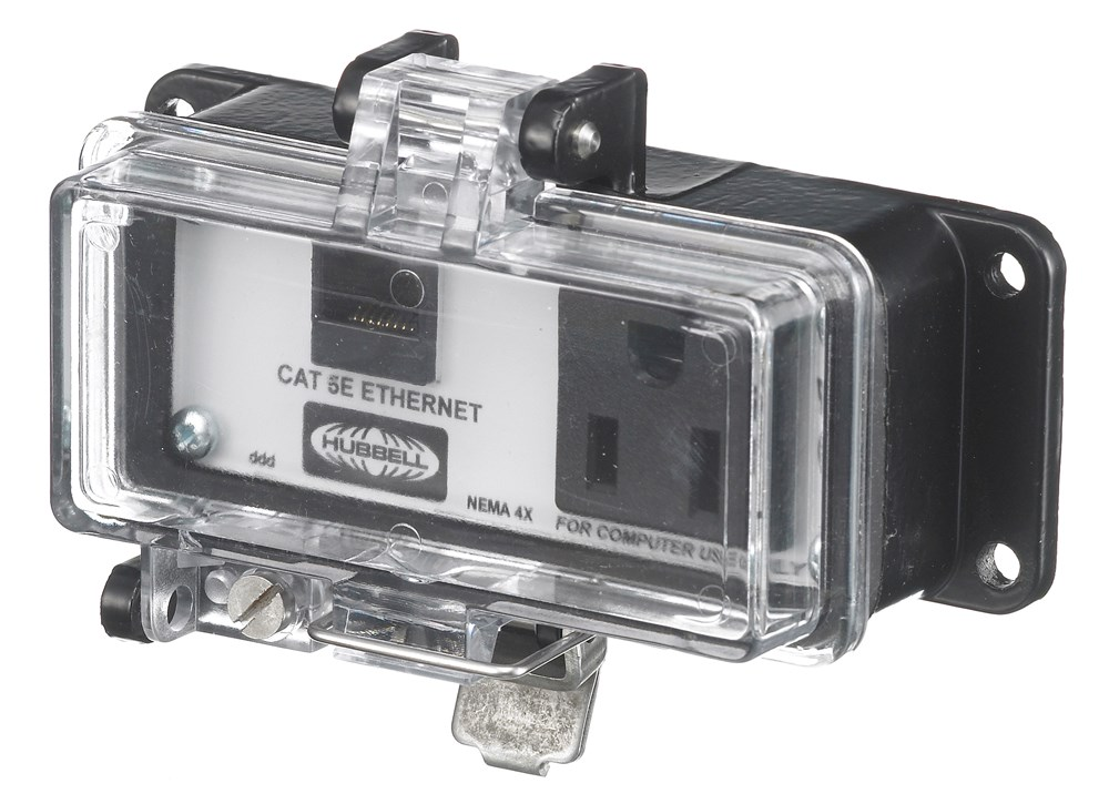 Hubbell P4X155E Signal and Control Combination Outlet