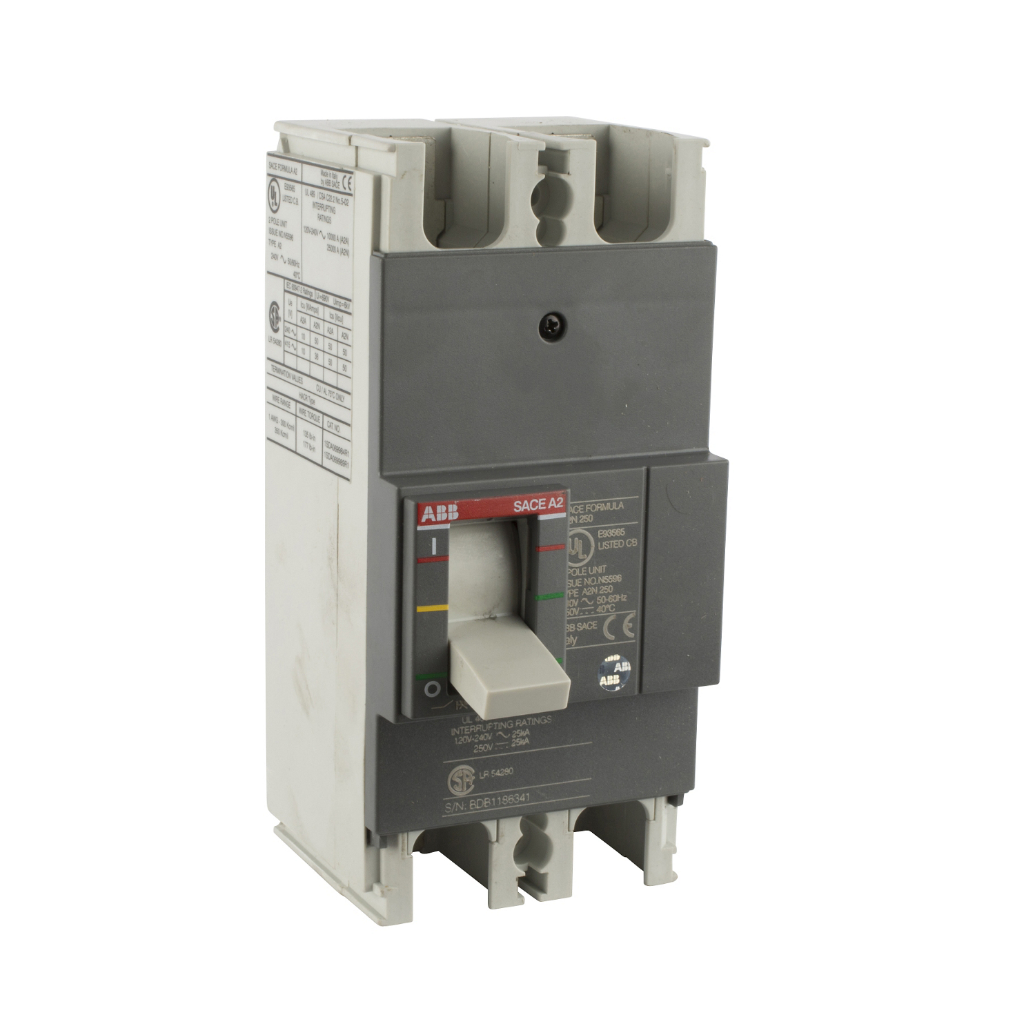 ABB A2N225TW-2 Molded Case Circuit Breakrs