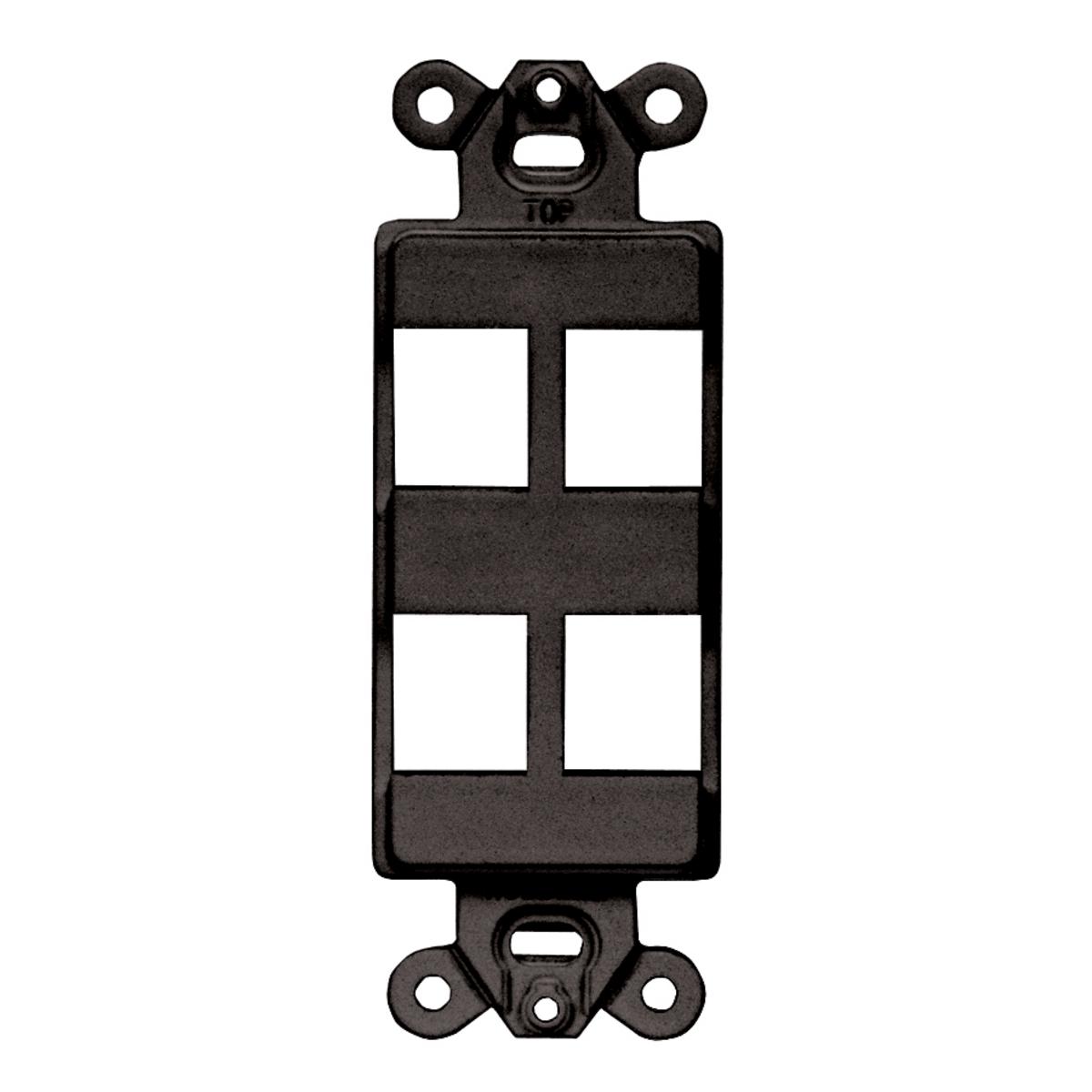 Hubbell ISF4BK Decorator Outlet Frame