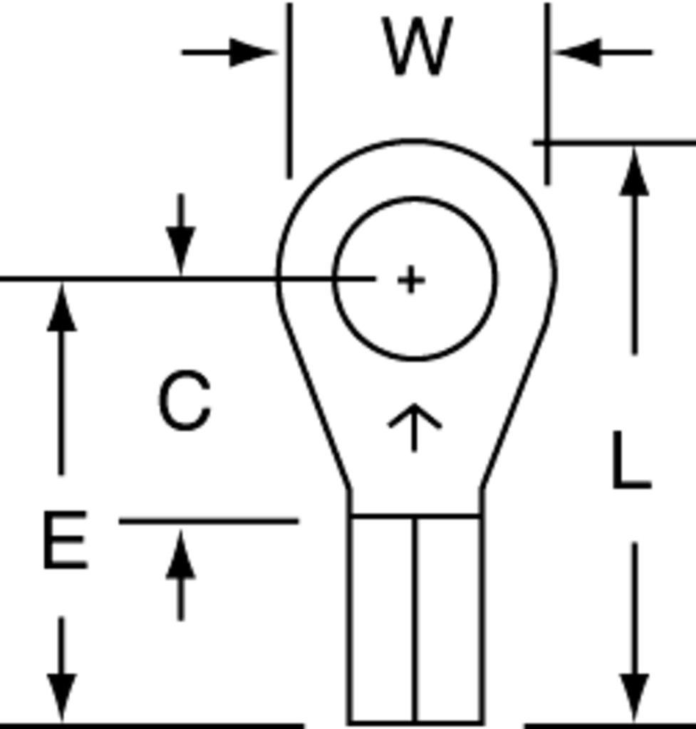 3M MU14-10RX Ring Terminal