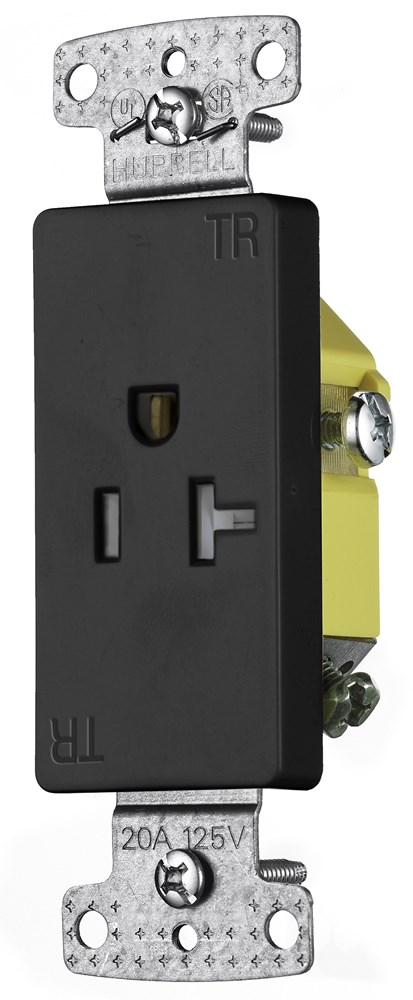 Hubbell RRD201BKTR Straight Blade Receptacle