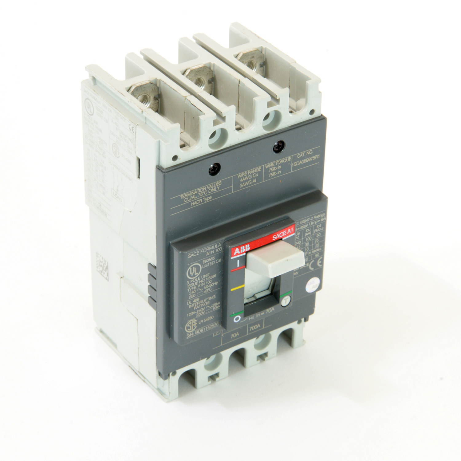 ABB A1N070TW Molded Case Circuit Breakrs