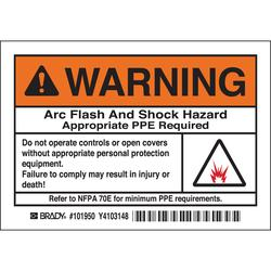 Brady 101950 Arc Flash Protection Label