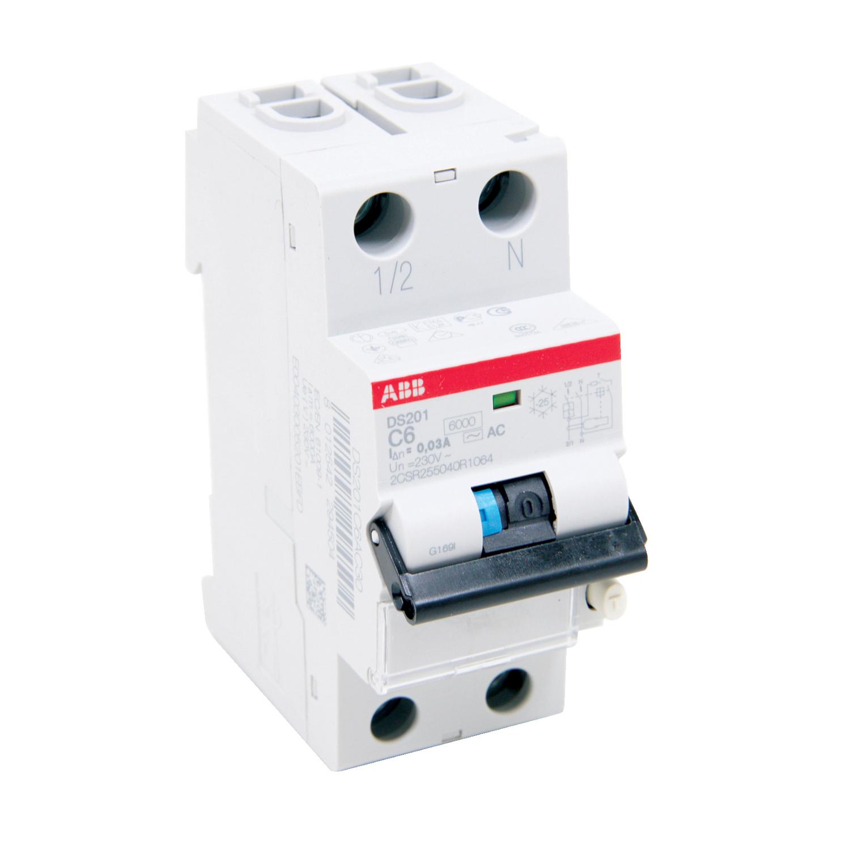 ABB DS201AC-C6/0.03 Residual Current Circuit Breaker