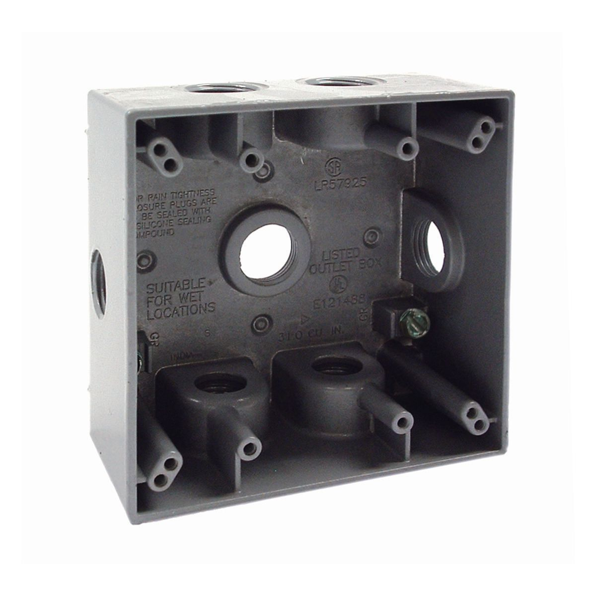 Hubbell-Raco 5338-0 BELL Weatherproof Outlet Box