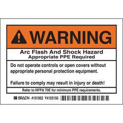 Brady 101952 Arc Flash Protection Label