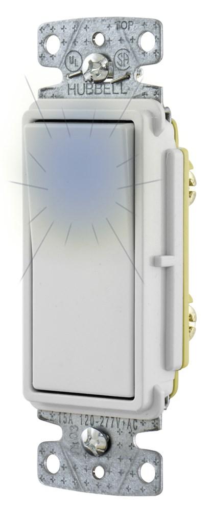 Hubbell RSD115ILW Decorator Switch