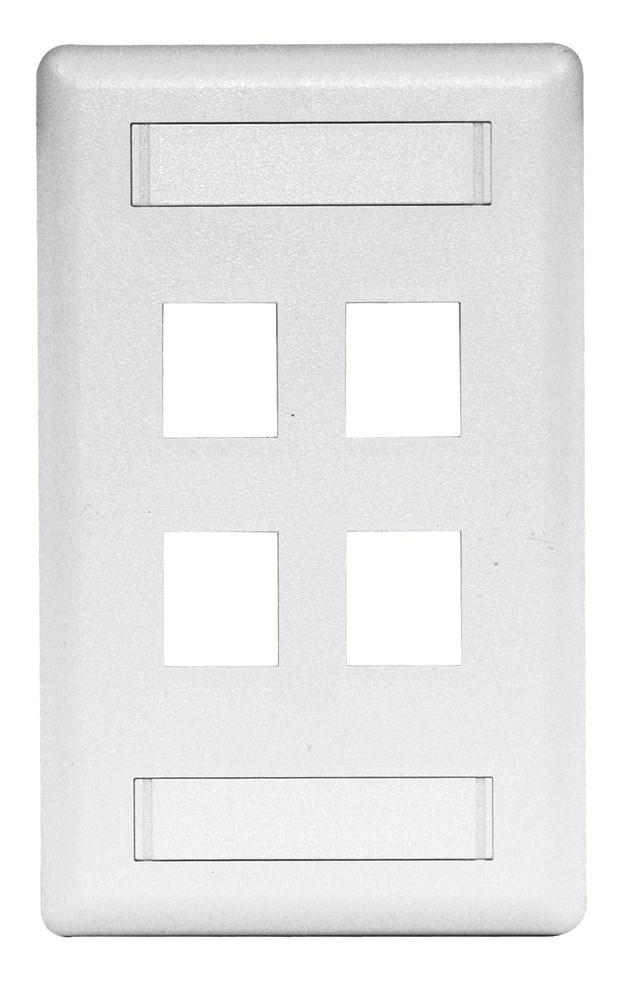 Hubbell IFP14W Keystone Faceplate
