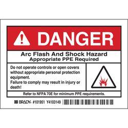 Brady 101951 Arc Flash Protection Label
