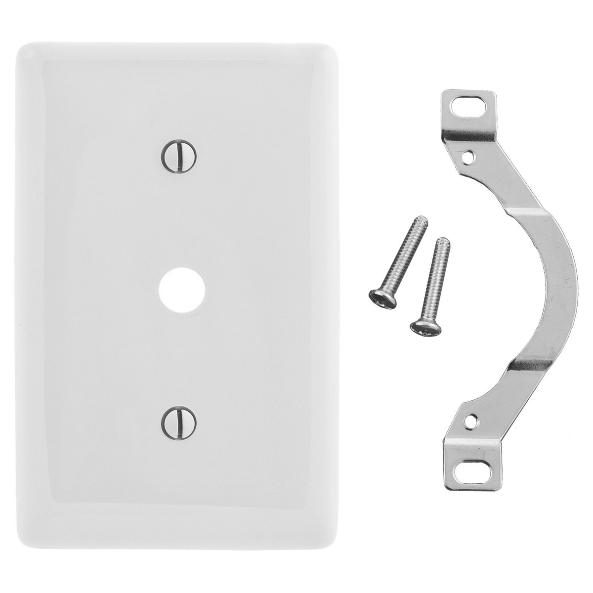 Hubbell NP12W Telephone/Coaxial Wallplate