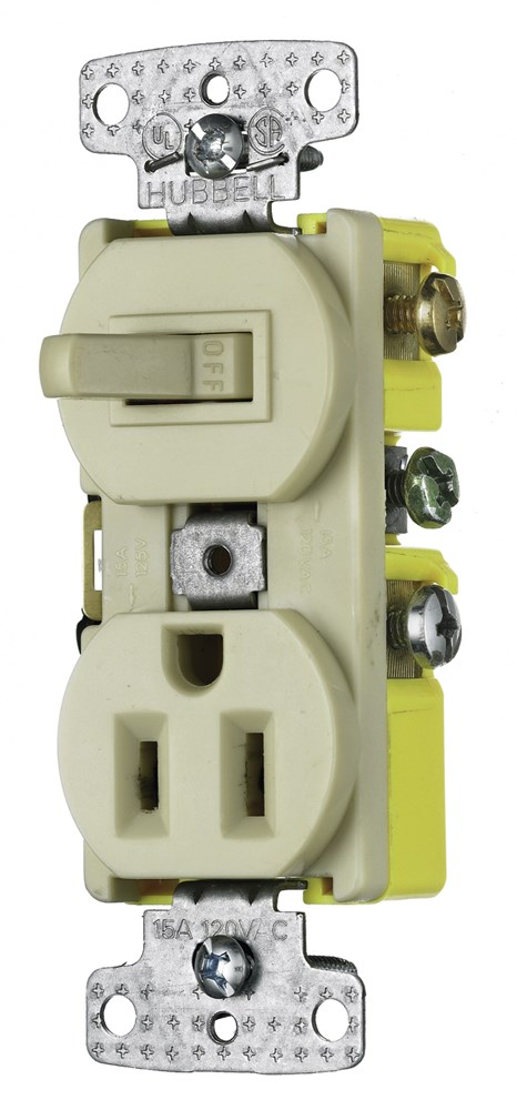 Hubbell RC108I Combination Switch and Receptacle
