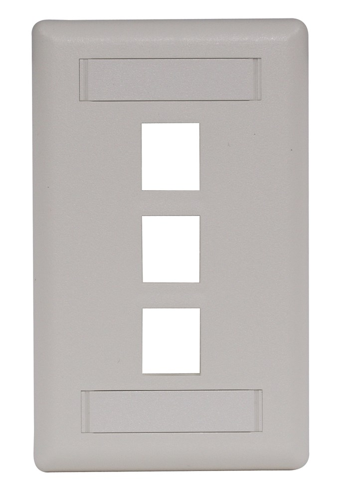 Hubbell IFP13OW Keystone Faceplate