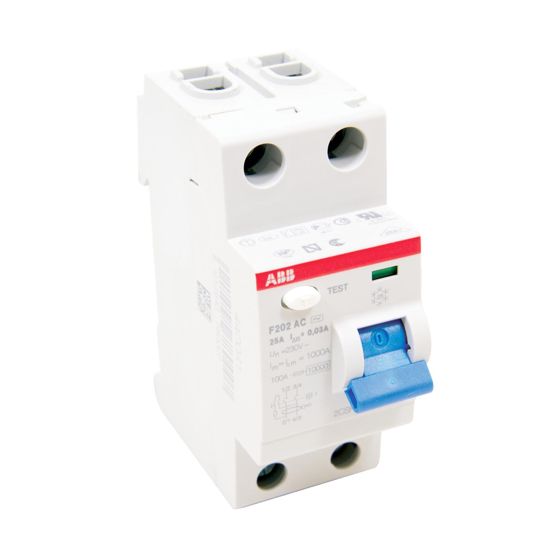 ABB F202AC-25/0.1 Residual Current Circuit Breaker