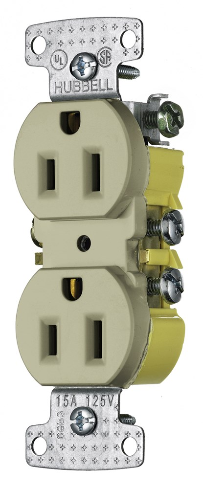 Hubbell RR15I Straight Blade Receptacle