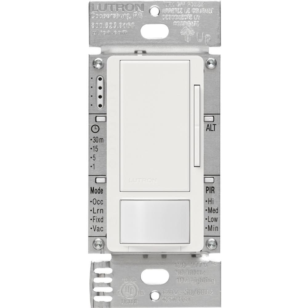 Lutron MS-Z101-WH Occupancy Or Motion Sensing Switch