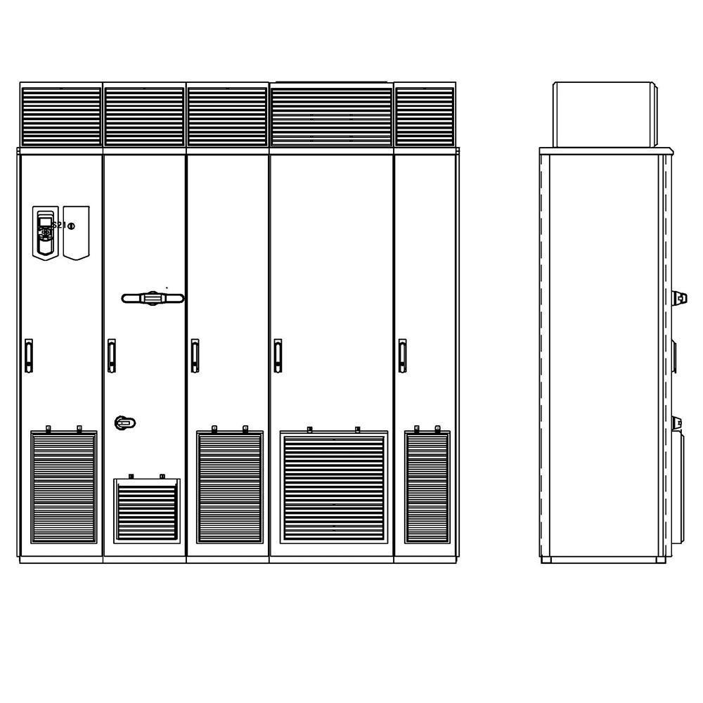 ABB ACS880-07-1070A-5+B055+C129+H359 Cabinet AC Drive