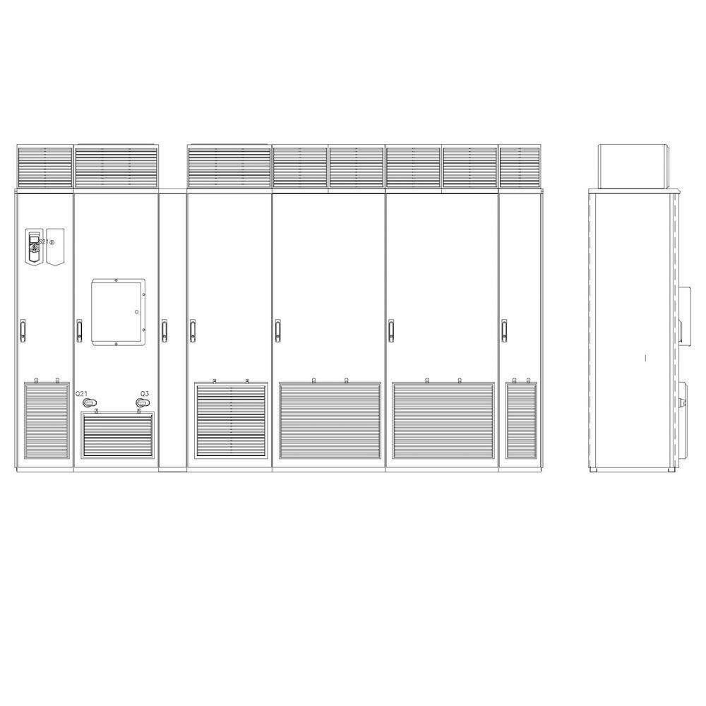 ABB ACS880-37-0950A-7+C129+H359 Cabinet AC Drive