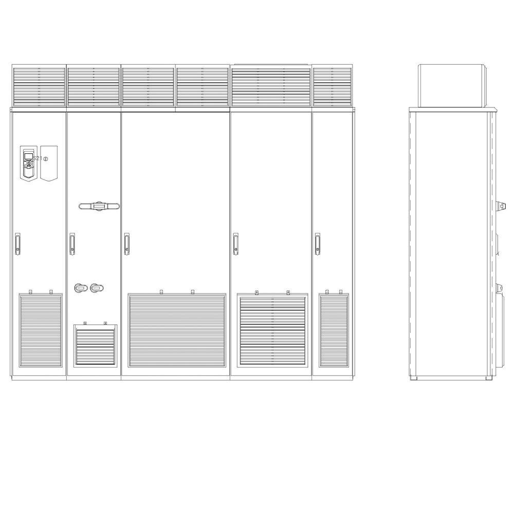 ABB ACS880-17-1110A-5+B055+C129+H359 Cabinet AC Drive