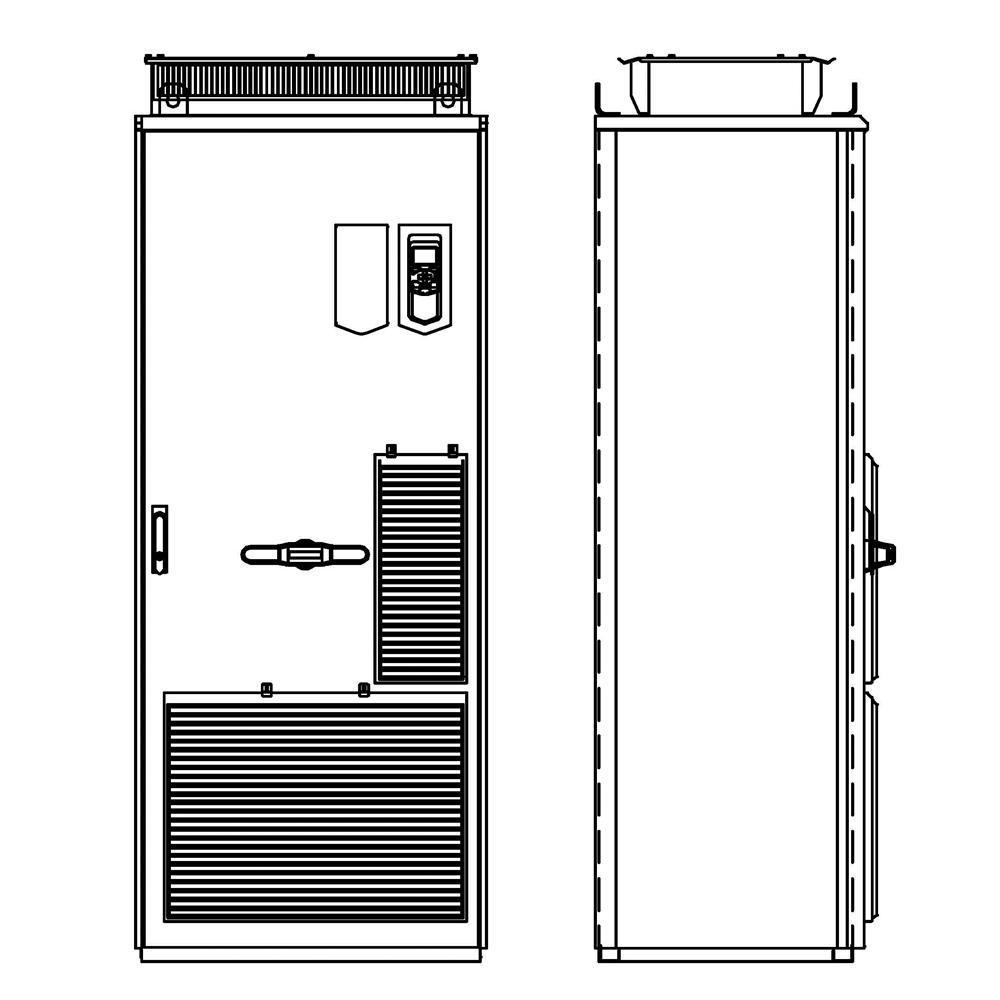 ABB ACS880-07-0820A-5+C129 Cabinet AC Drive