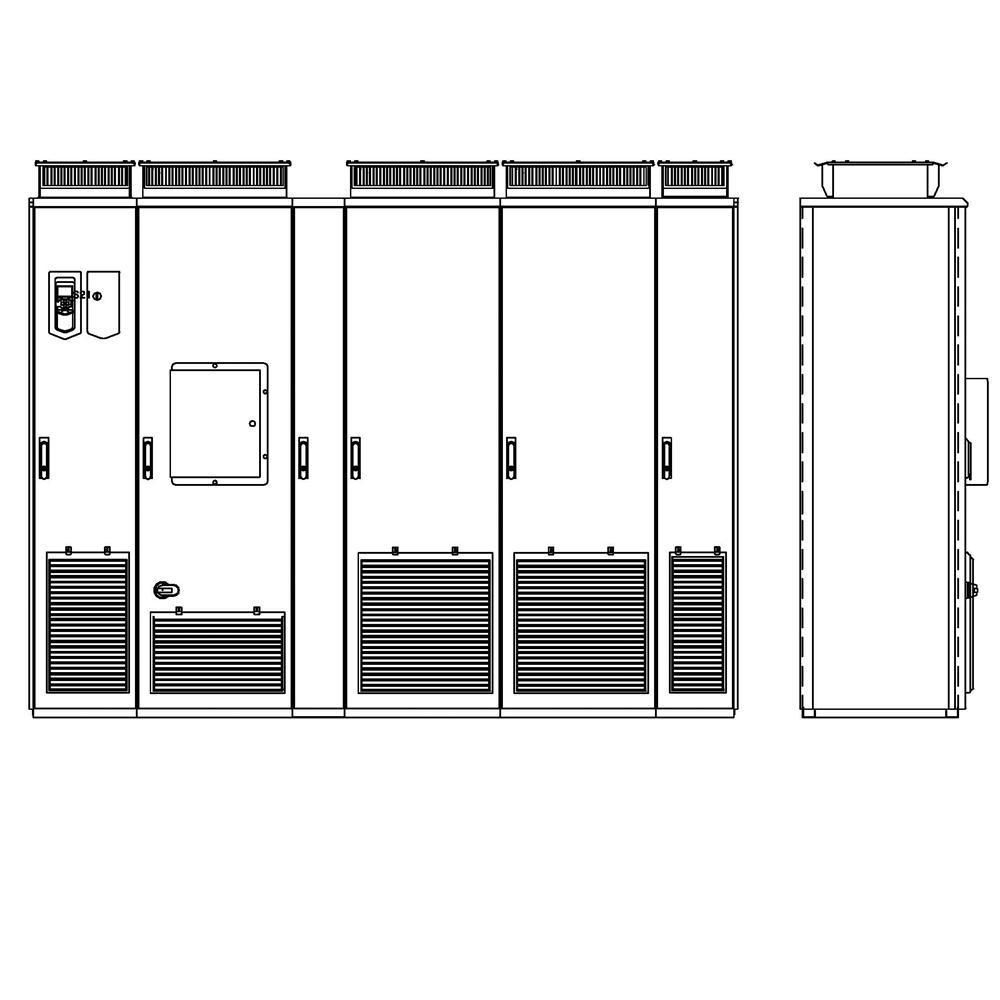 ABB ACS880-07-1320A-5+C129+F255+H359 Cabinet AC Drive