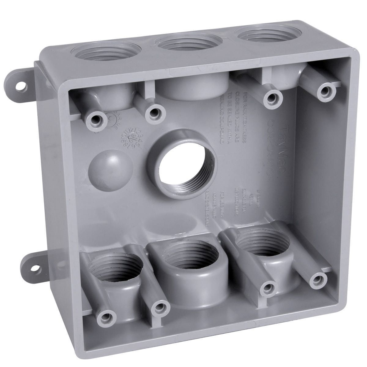 Hubbell-Raco PDB77550GY BELL Outlet Box Plate