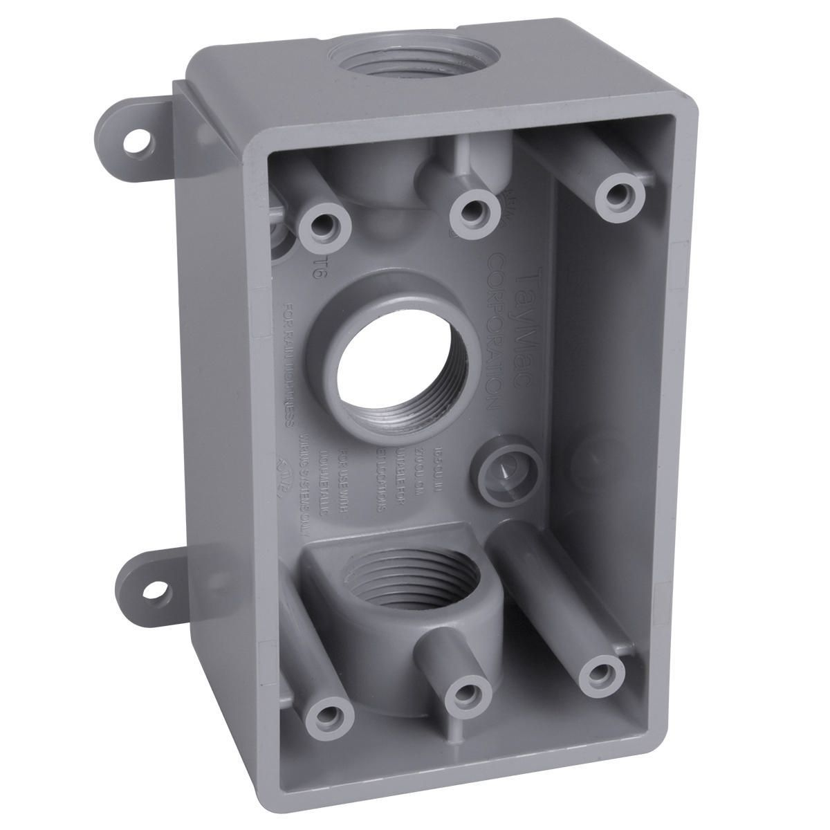 Hubbell-Raco PSB37550GY BELL Weatherproof Outlet Box